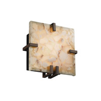 Justice Design Alabaster Rocks Clips Square Wall Sconce (Ada) in Dark Bronze ALR-5550-DBRZ