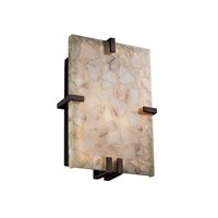 Justice Design Alabaster Rocks Clips Rectangle Wall Sconce (Ada) in Dark Bronze ALR-5551-DBRZ