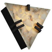 Justice Design Alabaster Rocks Clips Triangle Wall Sconce (Ada) in Matte Black ALR-5552-MBLK