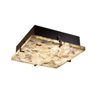 Alabaster Rocks 2 Light 13 inch Dark Bronze Flush-Mount Ceiling Light
