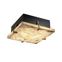 Justice Design ALR-5557-DBRZ-LED3-3000 Alabaster Rocks LED 17 inch Dark Bronze Flush Mount Ceiling Light in 3000 Lm LED