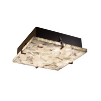 Alabaster Rocks 4 Light 17 inch Dark Bronze Flush-Mount Ceiling Light