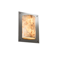Justice Design Alabaster Rocks Framed Rectangle 4-Sided Wall Sconce (Ada) in Black Nickel ALR-5563-BLKN