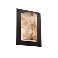 Justice Design Alabaster Rocks Framed Rectangle 4-Sided Wall Sconce (Ada) in Dark Bronze ALR-5563-DBRZ