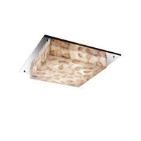 Justice Design ALR-5567-NCKL-LED3-3000 Alabaster Rocks LED 16 inch Brushed Nickel Flush Mount Ceiling Light in 3000 Lm LED
