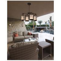 Justice Design ALR-7510W-MBLK Alabaster Rocks LED 25 inch Matte Black Chandelier Ceiling Light
