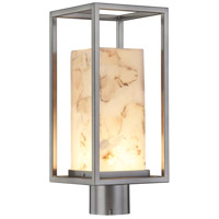 Justice Design ALR-7513W-NCKL Alabaster Rocks LED 17 inch Brushed Nickel Outdoor Post Light Rectangle