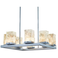 Justice Design ALR-7519W-NCKL Alabaster Rocks Laguna LED 25 inch Brushed Nickel Outdoor Chandelier