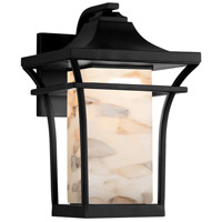 Justice Design ALR-7524W-MBLK Alabaster Rocks Summit 1 Light 11 inch Matte Black Wall Sconce Wall Light
