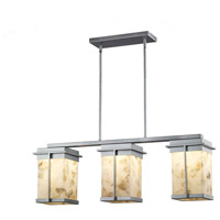Justice Design ALR-7540W-MBLK Alabaster Rocks Pacific LED 8 inch Matte Black Outdoor Chandelier