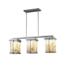 Justice Design ALR-7540W-NCKL Alabaster Rocks Pacific LED 8 inch Brushed Nickel Outdoor Chandelier