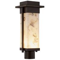 Justice Design ALR-7542W-DBRZ Alabaster Rocks LED 18 inch Dark Bronze Outdoor Post Light Rectangle