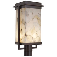 Alabaster Rocks Pacific LED 18 inch Dark Bronze Outdoor Post Light