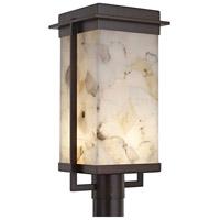 Justice Design ALR-7543W-DBRZ Alabaster Rocks Pacific LED 18 inch Dark Bronze Outdoor Post Light