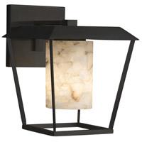 Justice Design ALR-7554W-10-MBLK-LED1-700 Alabaster Rocks LED 12 inch Outdoor Wall Sconce in 700 Lm LED Matte Black