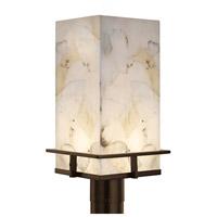 Justice Design ALR-7563W-NCKL Alabaster Rocks Avalon LED 17 inch Brushed Nickel Outdoor Post Light