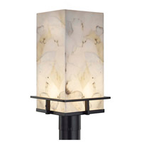 Alabaster Rocks Avalon LED 17 inch Matte Black Outdoor Post Light