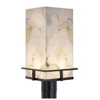 Justice Design ALR-7563W-MBLK Alabaster Rocks Avalon LED 17 inch Matte Black Outdoor Post Light