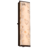Alabaster Rocks LED 7 inch Dark Bronze ADA Wall Sconce Wall Light