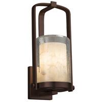 Justice Design ALR-7581W-10-DBRZ-LED1-700 Alabaster Rocks LED 13 inch Outdoor Wall Sconce in 700 Lm LED Dark Bronze