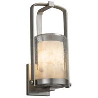 Justice Design ALR-7581W-10-NCKL-LED1-700 Alabaster Rocks LED 13 inch Outdoor Wall Sconce in 700 Lm LED Brushed Nickel