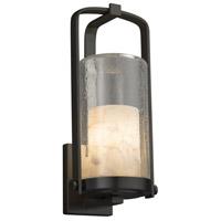 Justice Design ALR-7584W-10-MBLK-LED1-700 Alabaster Rocks LED 17 inch Outdoor Wall Sconce in 700 Lm LED Matte Black