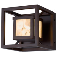 Justice Design ALR-7620W-DBRZ Alabaster Rocks LED 7 inch Dark Bronze Outdoor Wall Sconce Square
