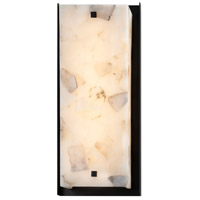 Justice Design ALR-7652W-MBLK Alabaster Rocks LED 24 inch Matte Black Outdoor Wall Sconce Square