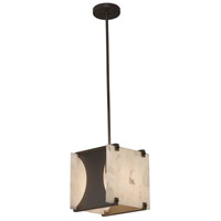 Justice Design ALR-8030-DBRZ-LED1-700 Alabaster Rocks LED 10 inch Dark Bronze Pendant Ceiling Light in 700 Lm LED