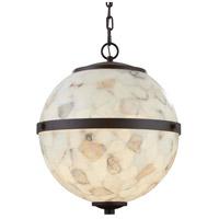 Justice Design ALR-8040-DBRZ Alabaster Rocks Imperial LED 17 inch Dark Bronze Chandelier Ceiling Light