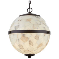 Dark Bronze Metal Alabaster Rocks Chandeliers