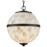 Justice Design ALR-8041-DBRZ Alabaster Rocks Imperial LED 25 inch Dark Bronze Chandelier Ceiling Light