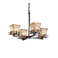 Justice Design Metropolis 4 Light Chandelier in Brushed Nickel ALR-8100-40-NCKL