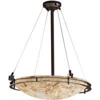 Justice Design ALR-8122-35-DBRZ Alabaster Rocks 5 Light 28 inch Dark Bronze Pendant Ceiling Light Bowl