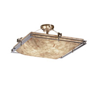 Justice Design Metropolis 6 Light Semi-Flush in Brushed Nickel ALR-8132-25-NCKL-LED-5000
