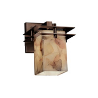 Metropolis 1 Light 7 inch Dark Bronze Wall Sconce Wall Light in Square with Flat Rim