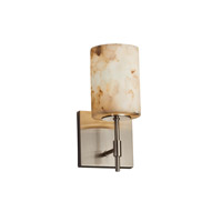 Alabaster Rocks LED 5 inch Brushed Nickel Wall Sconce Wall Light in 700 Lm 1 Light LED, Cylinder with Flat Rim