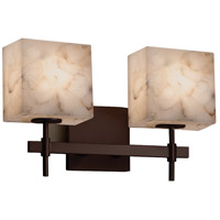 Justice Design Group Alabaster Rocks LED Vanity Light in Dark Bronze ALR-8412-55-DBRZ-LED2-1400