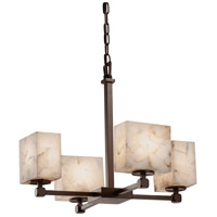 Justice Design Group Alabaster Rocks LED Chandelier in Dark Bronze ALR-8420-55-DBRZ-LED4-2800