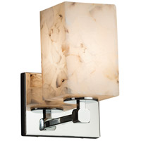 Alabaster Rocks 1 Light 6 inch Polished Chrome Wall Sconce Wall Light in Fluorescent, Square with Flat Rim