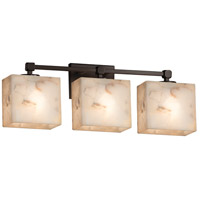 Alabaster Rocks 3 Light 24 inch Dark Bronze Vanity Light Wall Light in 7.25, LED, 23.5, Rectangle