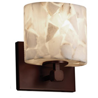 Justice Design Group Alabaster Rocks LED Wall Sconce in Dark Bronze ALR-8427-30-DBRZ-LED1-700