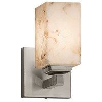 Justice Design ALR-8431-15-NCKL-LED1-700 Alabaster Rocks LED 5 inch Brushed Nickel Wall Sconce Wall Light in 700 Lm LED Square with Flat Rim Square