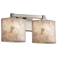 Alabaster Rocks 2 Light 16 inch Brushed Nickel Vanity Light Wall Light in Fluorescent, Oval