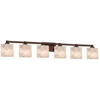 Justice Design ALR-8436-30-DBRZ-LED6-4200 Alabaster Rocks LED 52 inch Vanity Light Wall Light in 4200 Lm LED Dark Bronze Oval