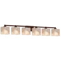 Justice Design ALR-8436-55-DBRZ-LED6-4200 Alabaster Rocks LED 51 inch Vanity Light Wall Light in 4200 Lm LED Dark Bronze Rectangle
