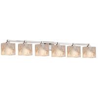 Justice Design ALR-8436-55-NCKL-LED6-4200 Alabaster Rocks LED 51 inch Vanity Light Wall Light in 4200 Lm LED Brushed Nickel Rectangle