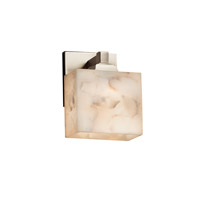 Alabaster Rocks LED 6 inch Brushed Nickel ADA Wall Sconce Wall Light in 700 Lm 1 Light LED, Rectangle