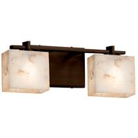 Justice Design ALR-8442-55-DBRZ-LED2-1400 Alabaster Rocks LED 16 inch Vanity Light Wall Light in 1400 Lm LED Dark Bronze Rectangle