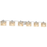 Alabaster Rocks Era 6 Light 56 inch Polished Chrome Bath Bar Wall Light